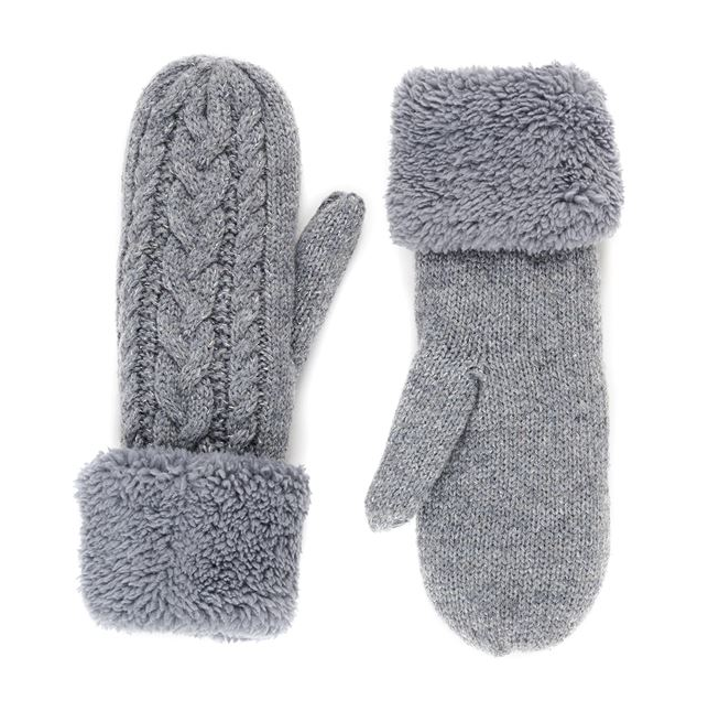 Cable Fleece Mittens