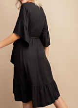 Madeline Faux Wrap Midi Dress