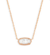 Elisa Necklace Rose Gold -Ivory Mother of Pearl