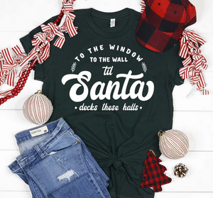 Santa Decks these Halls Christmas Shirt