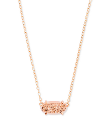 Ever Rose Gold Necklace with Rose Gold Drusy