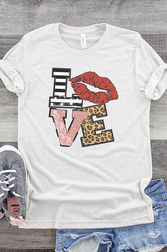 Love Stack Red Lips Tee