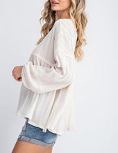 Dahlia Bubble Sleeve Knit Top