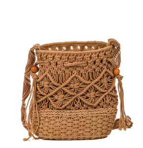 Cotton Weave Bucket Bag
