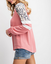 Sweet Pea Color Block Sweatshirt