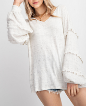 Sutton Oversized Knit Top in Ivory