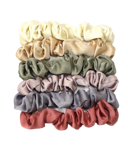 Girly Silky Scrunchie Set