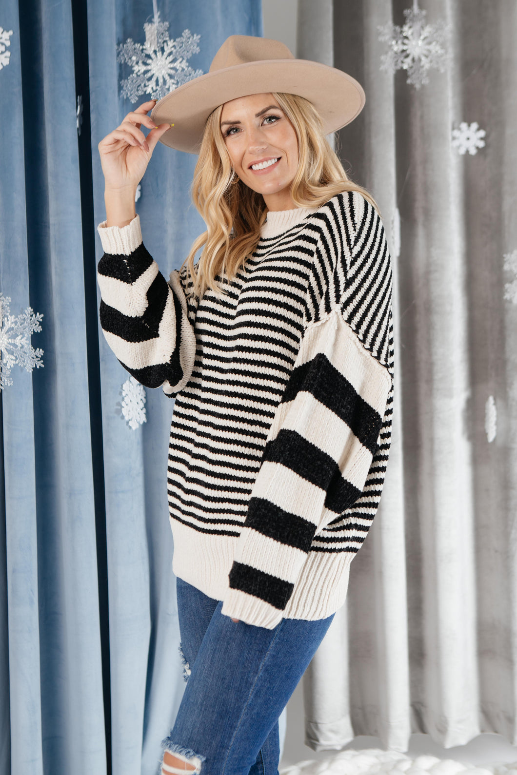Simone Striped Sweater