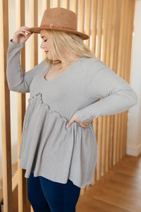 The Right Kind of Attention Top in Heather Gray
