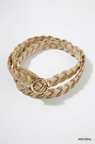 Olivia Braided Belt in Natural