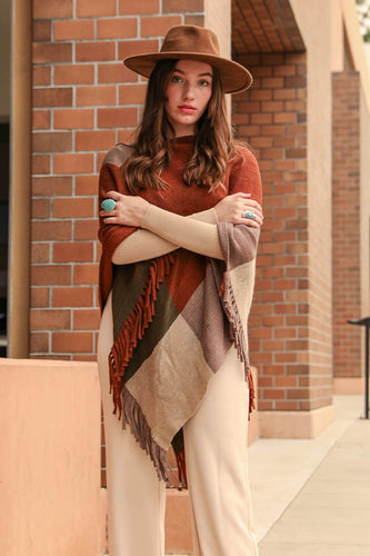 My Fall Must Have Poncho in Rust