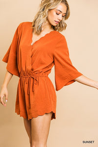 The Audrey Romper in Sunset