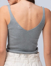 Rib Knit Drawstring Cropped Cami