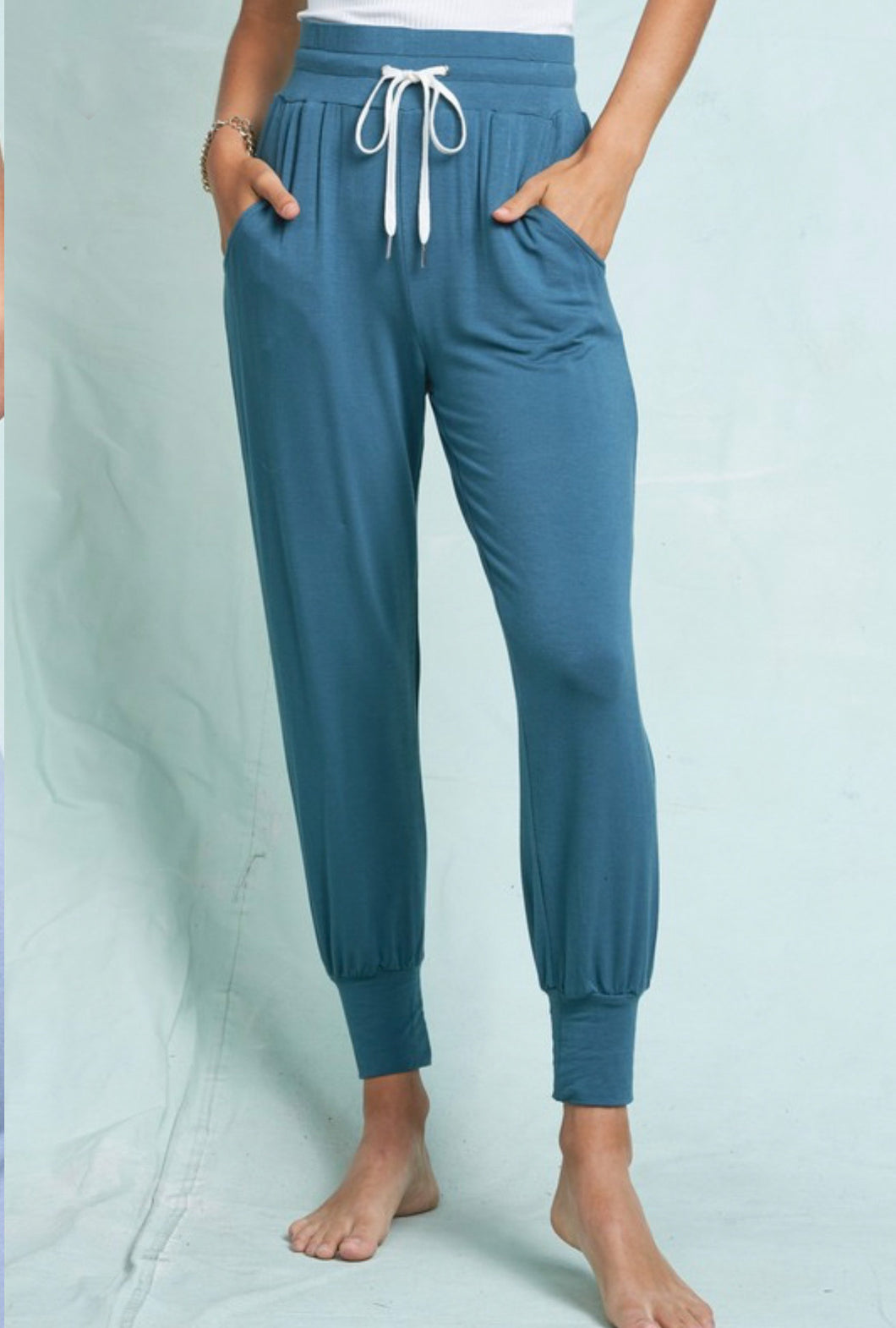 Cozy Casual Joggers in Teal