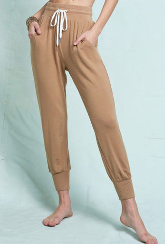 Cozy Casual Joggers in Camel