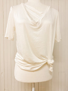 Elsie Casual Knit Top in Off White