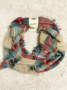 Forever Autumn Plaid Infitiny Scarf