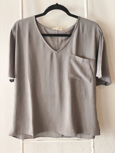 So Chic Flare Tee in Grey