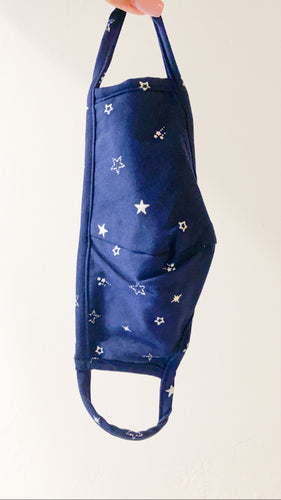 Star Gazing Face Mask in Navy