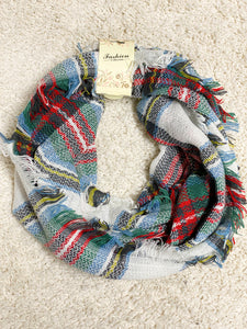 Blissful Plaid Infinity Scarf