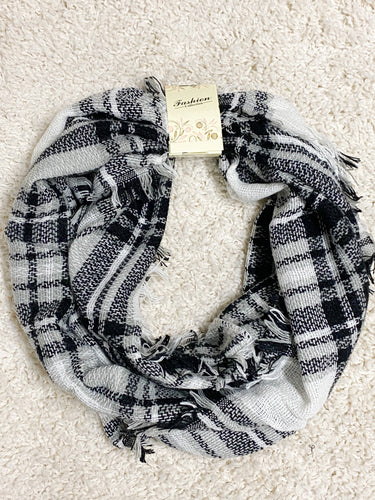 Winter Nights Plaid Infinity Scarf
