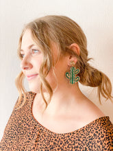 Can't Touch This Mini Beaded Cactus Drop Earrings