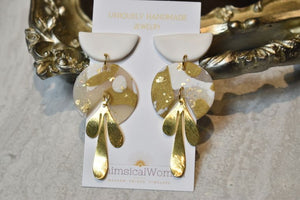 The Athena's Polymer Clar Earrings