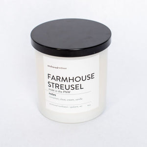 Farmhouse Streusel - White Tumbler w/ lid