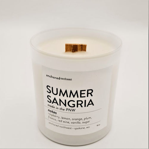 Summer Sangria - White Tumbler w/ cover