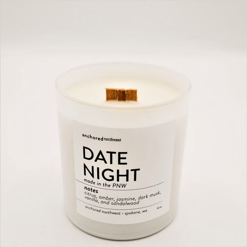Date Night - White Tumbler w/ cover