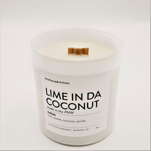 Lime in da Coconut - White Tumbler w/ cover