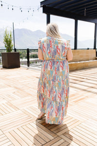 Meandering Patterns Maxi Dress