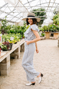 Nautical & Nice Striped Jumpsuit