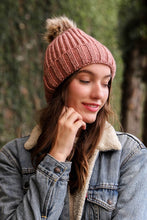 Winter Soft Knit Beanie in Pink