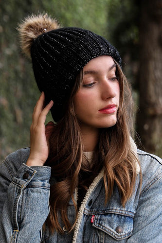 Winter Soft Knit Beanie in Black