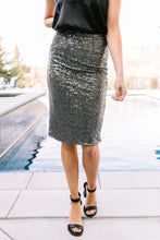 Sequence Of Sequins Pencil Skirt
