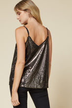 The Candace Sequin Top in Black