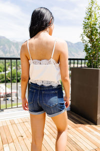 Silky & Lacy Cropped Camisole