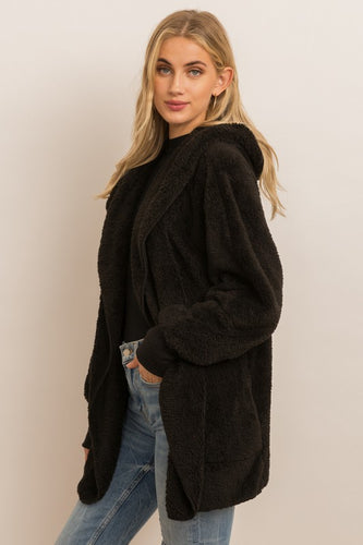 The Kylie Plush Jacket in Black