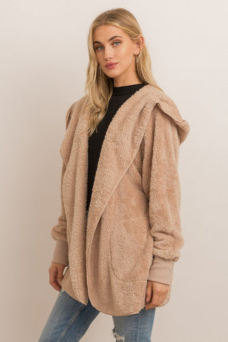 The Kylie Plush Jacket in Taupe