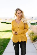 Sweet As Honey Waffle Knit Button-Down