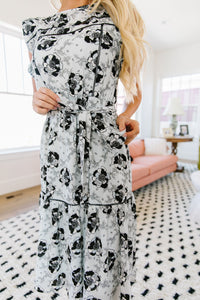 The Black Rose Spring Midi Dress
