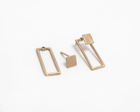 MAGDALENA PASZKIEWICZ Gold-plated earrings