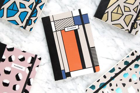 Image of Paper Love Mondrian notebook made of recycled paper by Magdalena Tekieli, available on WOMB online shop.