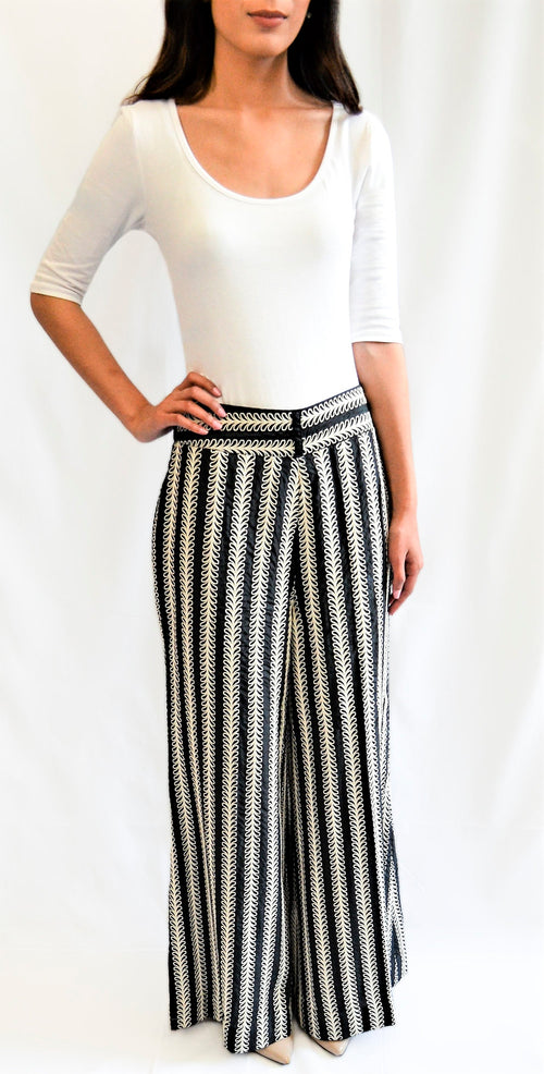 Printed striped pants