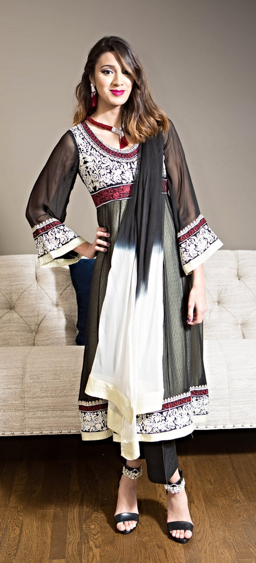 Chiffon kurta and pants