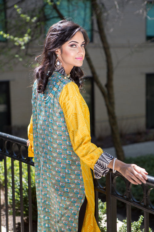 Desi long printed shirt