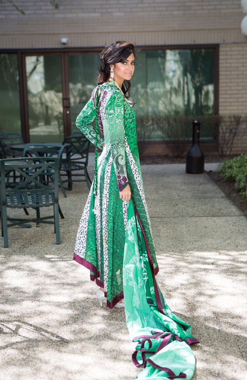 Green suit with dupatta