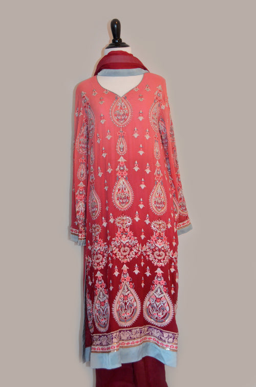 Party wear chiffon kurta and