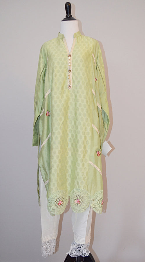 Silk kurti with pants